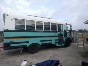 Our first bus, the Sport Bus!